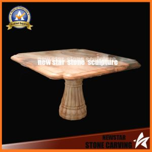 Cheap Sunset Red Granite Carving Table Simple Design pictures & photos