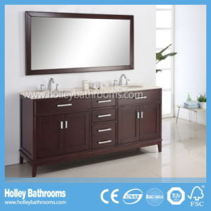 American Style Delicate Floor Mounted Classic Solid Wood Bathroom Vanity Set (BV160W) pictures & photos