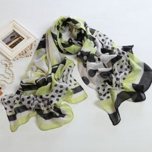 Fashion Autumn Long Polyester Voile Scarf Women Scarves
