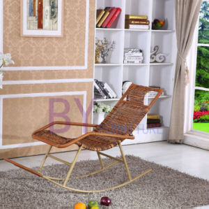 Leisure PE Rattan Garden Rocking Chair pictures & photos