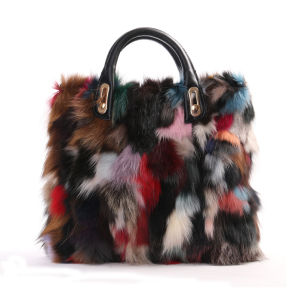 Factory Directly Supply Luxury Fashion Ladies Handbags Real Fox Fur Bag pictures & photos