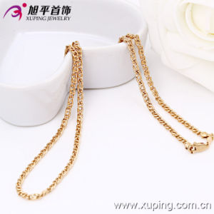 Xuping Fashion Rose Gold Color Necklace (42490) pictures & photos