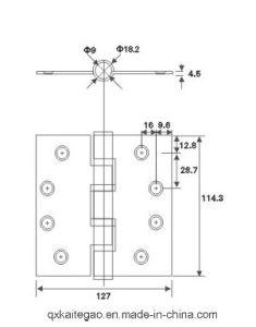 """(4.5""""X5""""X4.5mm-4BB) SUS304 Butt Hinge for Fire Door and Metal Door pictures & photos"""