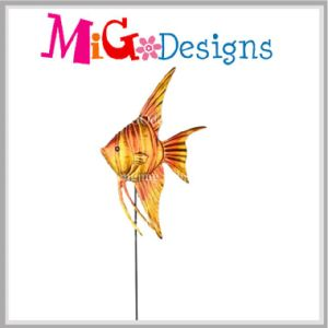 Contracted Ocean Collection Gold Fish Metal Garden Stake pictures & photos