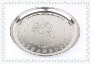 Magnetic 36/40/48/52/56/60cm Penoy Flower Stainless Steel Round Plate pictures & photos