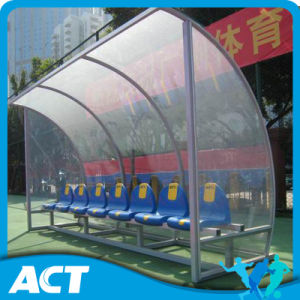 Economy Football Team Shelter/ Soccer Dugouts with Plastic Player Seats pictures & photos