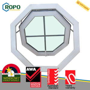 High Anti UV UPVC/PVC Plastic Awning Glass Window pictures & photos