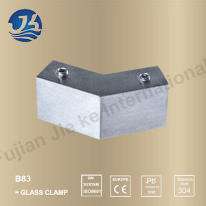 Sanitary Ware Stainless Steel Bathroom Hardware Glass Clamp (B83)
