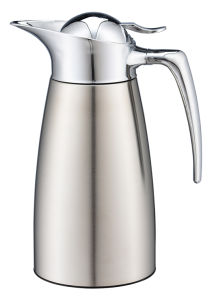 Double Wall Vacuum Stainless Steel Coffee Pot with Handle pictures & photos