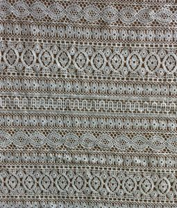 Polyester Guipure Embroidery Lace Fabric for Apparels and Garments