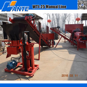 Manual Hydraulic Pressed Clay Interlocking Block Machine (WT1-25) pictures & photos