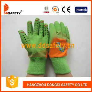 Ddsafety 2017 Orange Cotton Green Latex Glove pictures & photos