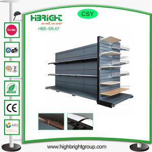 Wooden Grain Metal Supermarket Shelf pictures & photos