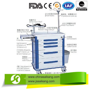 High Quality Hospital Medical Function Trolley/Cart pictures & photos