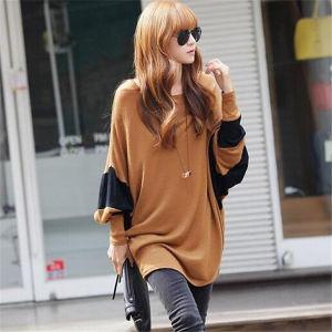 Korean Design Women Casual Loose Batwing T-Shirt (50028) pictures & photos