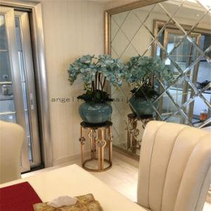 Hotel Club Modern Stainless Steel Furniture Flower Shelf Marble Flowerpot Shelves pictures & photos