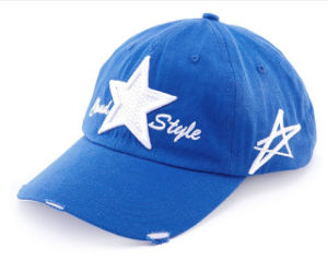 White 3D Star Embroidery Logo Royal Blue Cotton Children Sports Baseball Cap pictures & photos