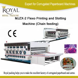 Mjzx-2 Flexo Printing and Slotting Machine (Chain feeding) pictures & photos