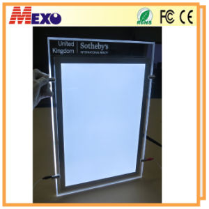 Hanging Magnetic Crystal Slim LED Light Box for Advertising pictures & photos