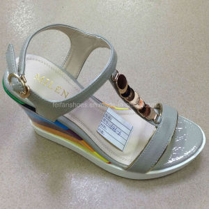 up-to -Date Good Quality Women PU Wedges Sandals (JH016 -6) pictures & photos