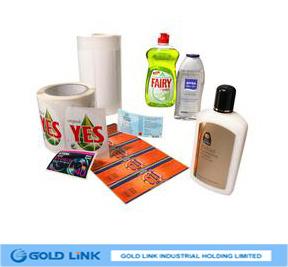 85mic Self Adhesivetransparent PE/60g White Glassine/Watrerbase (PE8500)