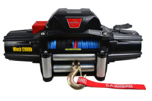 off-Roading Car 12V/24V Synthetic Rope Winch 12000lb CE Approvead