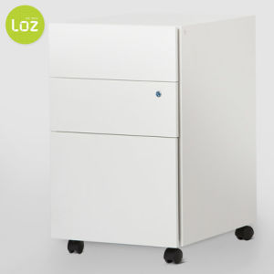 3 Drawer Filing Storage Cabinet Lockable Movable Filing