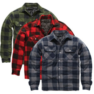 Men′s Winter Flannel Plaid Padded Jacket Shirt pictures & photos