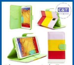 Wallet Stand Leather Case for Samsung Galaxy Note 3 pictures & photos