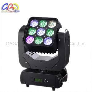 Professional 9*12W RGBW Mini LED Moving Head Martrix Light Use for Evento pictures & photos