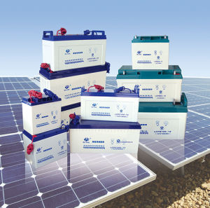 12V 90ah AGM Rechargeable Deep Cycle Solar Battery pictures & photos