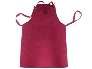 Adult Wine-Color Cotton Anti-Dirty Apron pictures & photos