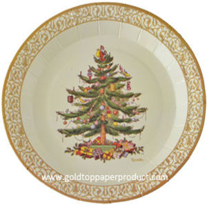 Round Paper Plates for Christmas Party pictures & photos