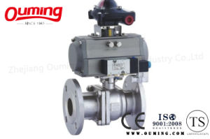 2PC Flanged Pneumatic Ball Valve pictures & photos