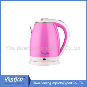 1.8 L Colourful Electric Kettle Hotel Water Kettle Stainless Steel Kettle Sf-2007 (Pink) pictures & photos