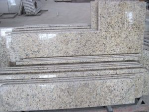 Granite Marbe Travertine Natural Stone Island Table with Cabinet pictures & photos