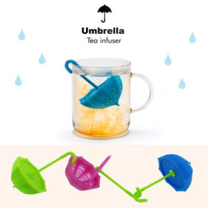Eco-Friendly Non-Toxic Umbrella Shape Silicone Tea Infuser/Tea Strainer pictures & photos