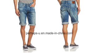 Cool Mens Indigo Denim Shorts pictures & photos