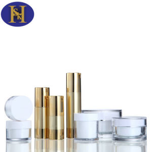 15ml-50ml Cosmetic Plastic Aluminum Gold/Silver Bottle pictures & photos