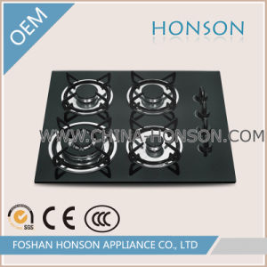 Hot Selling 4 Burners Tempered Glass Infrared Gas Hob
