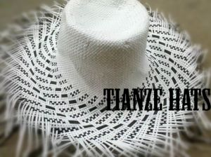 Black + White Paper Straw Hat Body pictures & photos