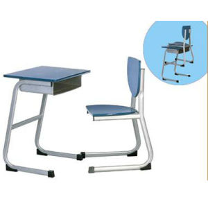 Modern Design Wooden Single Student Desk and Chair/School Furniture (FS-3216C) pictures & photos