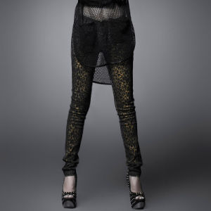 Gothic Style Leopard Print Fashion Lady Slim Pants Trousers (K-165) pictures & photos