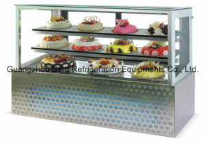 Tempered Glasses Cake Chiller with Ce with Backside Slide Glass Door pictures & photos