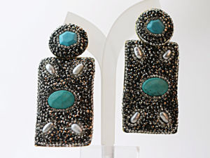 New Deaign Turquoise Pearl Jewelry Erring for Lady