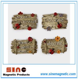 "Resin Creative Wall-Attached Letter ""Welcome"" Fridge Magnet pictures & photos"
