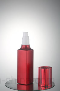 a Sets of Cosmetic Glass Bottles with Red Colors Qf-056 pictures & photos