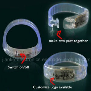 2015 Concert Party Flashing LED Wristband with Logo Printed (4011) pictures & photos