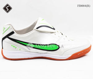 Top Level Men Sports Indoor Soccer Shoes pictures & photos