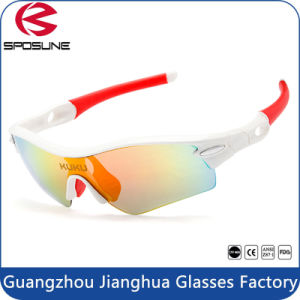 2017 Fashion Red Rubber Customized Sunglasses Professional Outdoor Bike Glasses pictures & photos